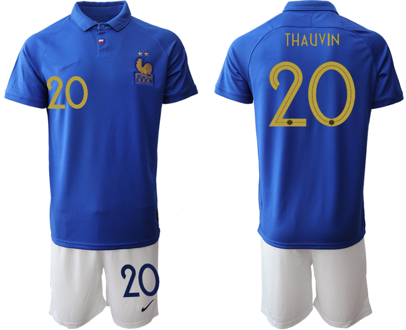 2019-20 France 20 THAUVIN 100th Commemorative Edition Soccer Jersey
