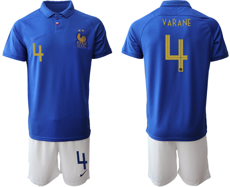 2019-20 France 4 VARANE 100th Commemorative Edition Soccer Jersey
