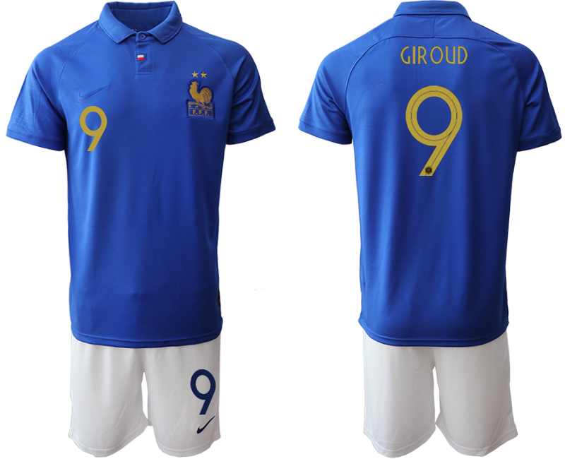 2019-20 France 9 GIROUD 100th Commemorative Edition Soccer Jersey