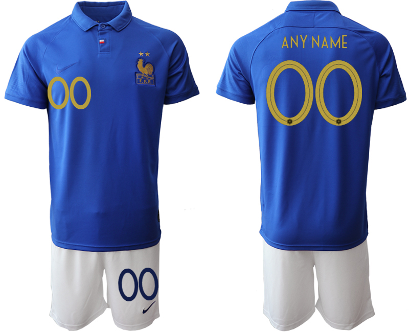 2019-20 France Customized 100th Commemorative Edition Soccer Jersey