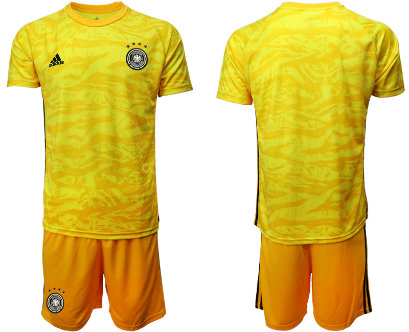 2019-20 Germany Yellow Goalkeeper Soccer Jersey