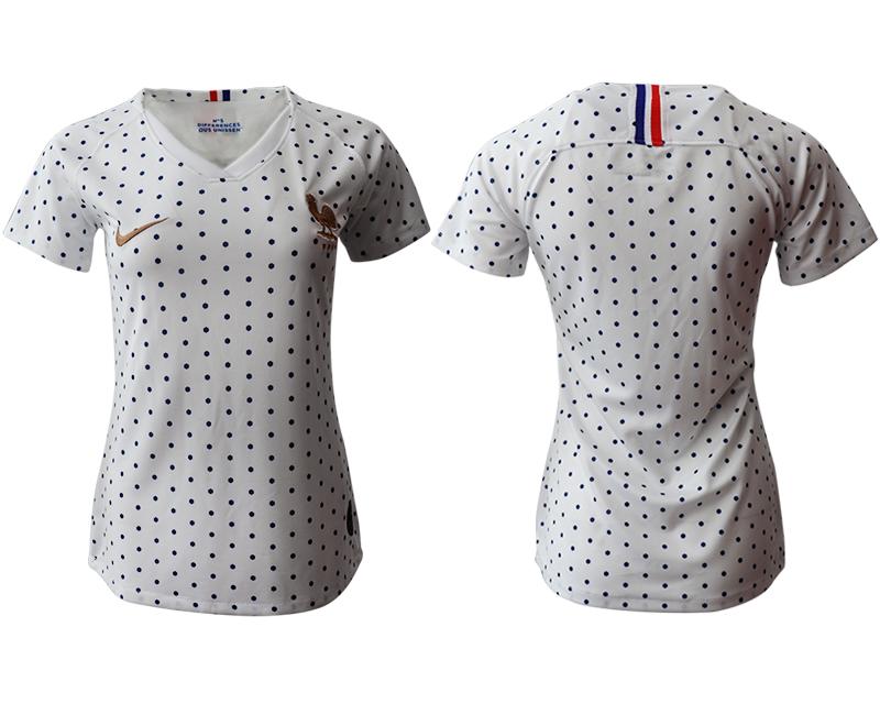2019-20 France Away Women Soccer Jersey
