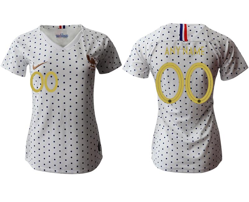 2019-20 France Customized Away Women Soccer Jersey