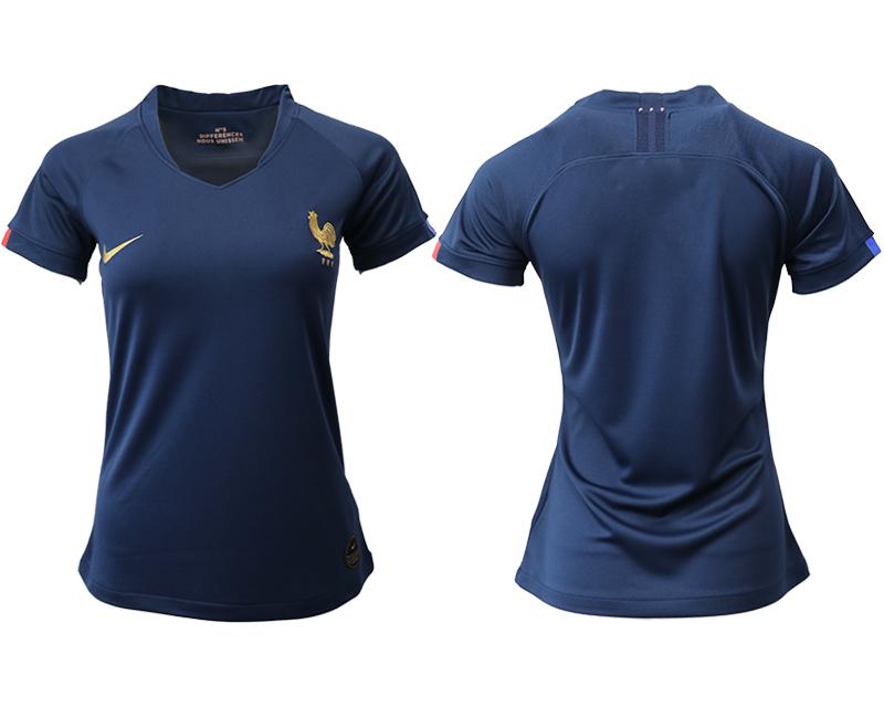 2019-20 France Homen Women Soccer Jersey