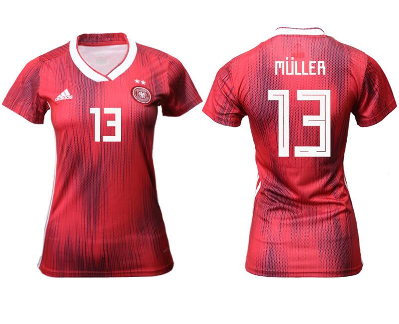 2019-20 Germany 13 MULLER Away Women Soccer Jersey