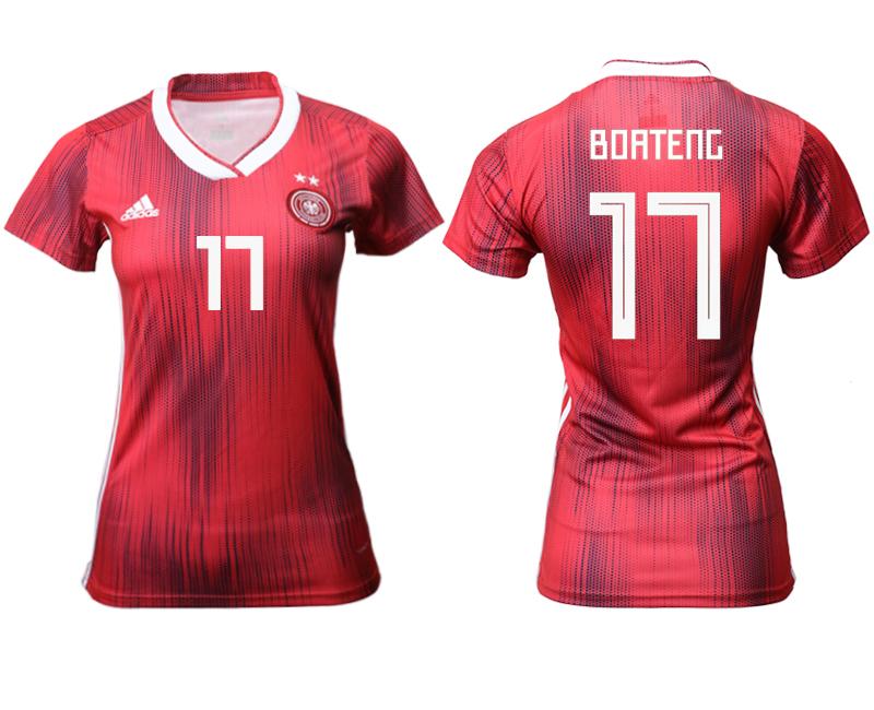2019-20 Germany 17 BOATENG Away Women Soccer Jersey