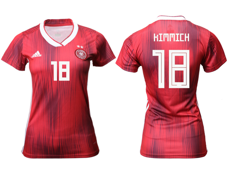 2019-20 Germany 18 KIMMICH Away Women Soccer Jersey