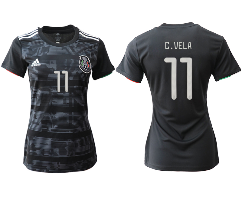 2019-20 Mexico 11 C.VELA Home Women Soccer Jersey