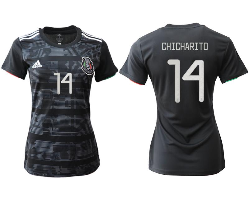 2019-20 Mexico 14 CHICHARITO Home Women Soccer Jersey