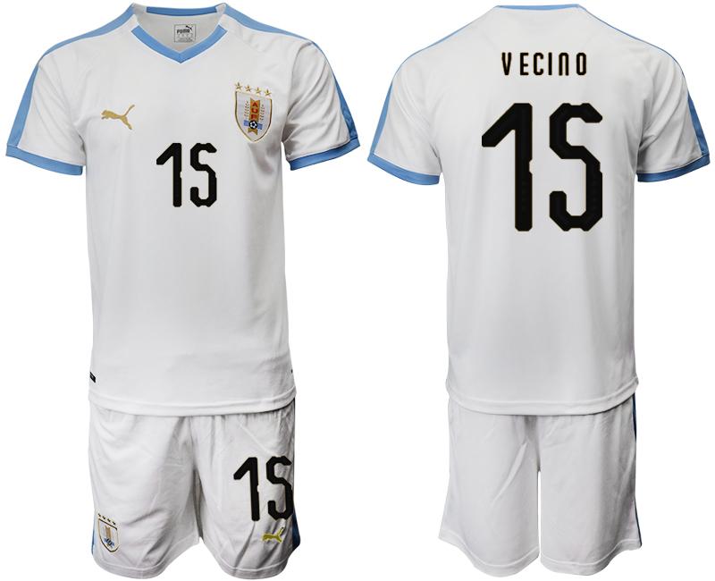 2019-20 Uruguay 15 V ECINO Away Soccer Jersey
