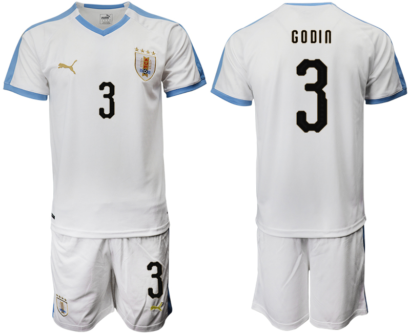 2019-20 Uruguay 3 G O DI N Away Soccer Jersey