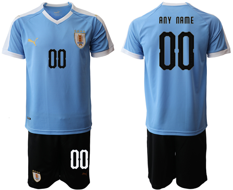 2019-20 Uruguay Customized Home Soccer Jersey