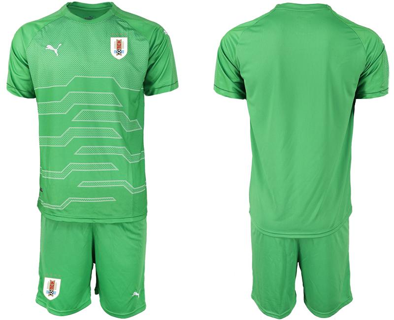 2019-20 Uruguay Green Goalkeeper Soccer Jersey