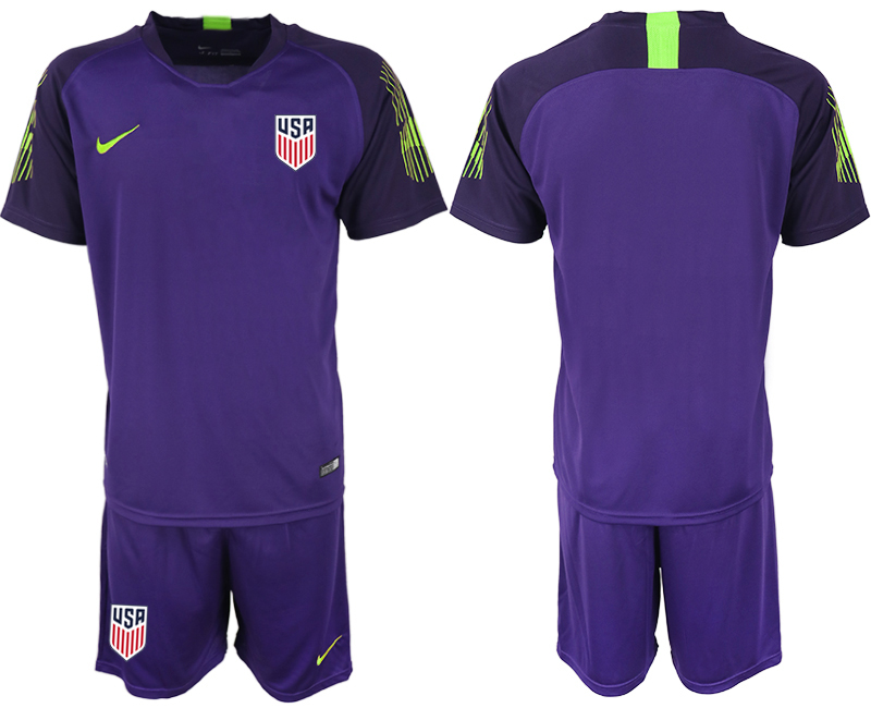 2019-20 USA Purple Goalkeeper Soccer Jersey