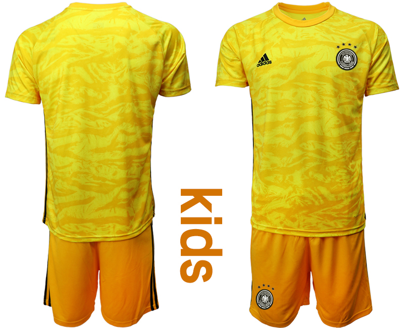 2019-20 Germany Yellow Goalkeeper Youth Soccer Jersey