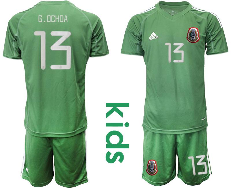 2019-20 Mexico Arm Green 13 G.OCHOA Youth Goalkeeper Soccer Jersey