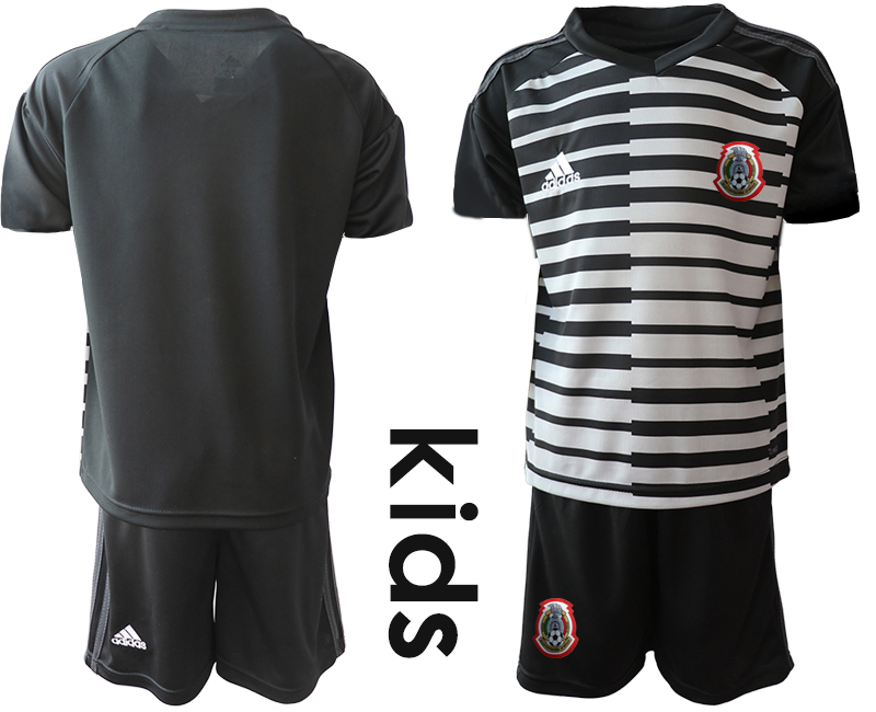 2019-20 Mexico Black Youth Goalkeeper Soccer Jersey