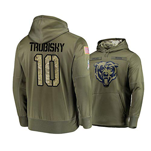Nike Bears 10 Mitchell Trubisky 2019 Salute To Service Stitched Hooded Sweatshirt