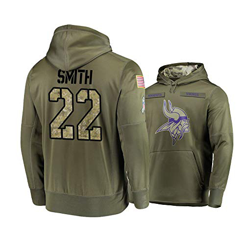 Nike Vikings 22 Harrison Smith 2019 Salute To Service Stitched Hooded Sweatshirt