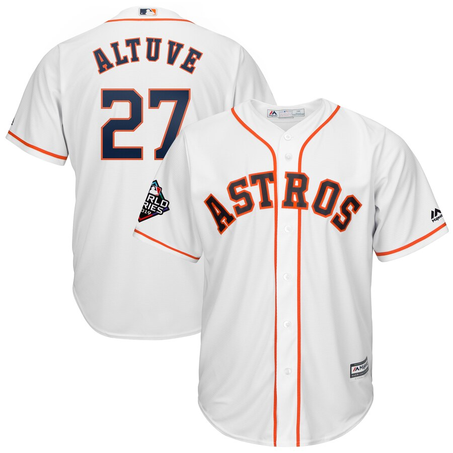 Astros 27 Jose Altuve White 2019 World Series Bound Cool Base Jersey