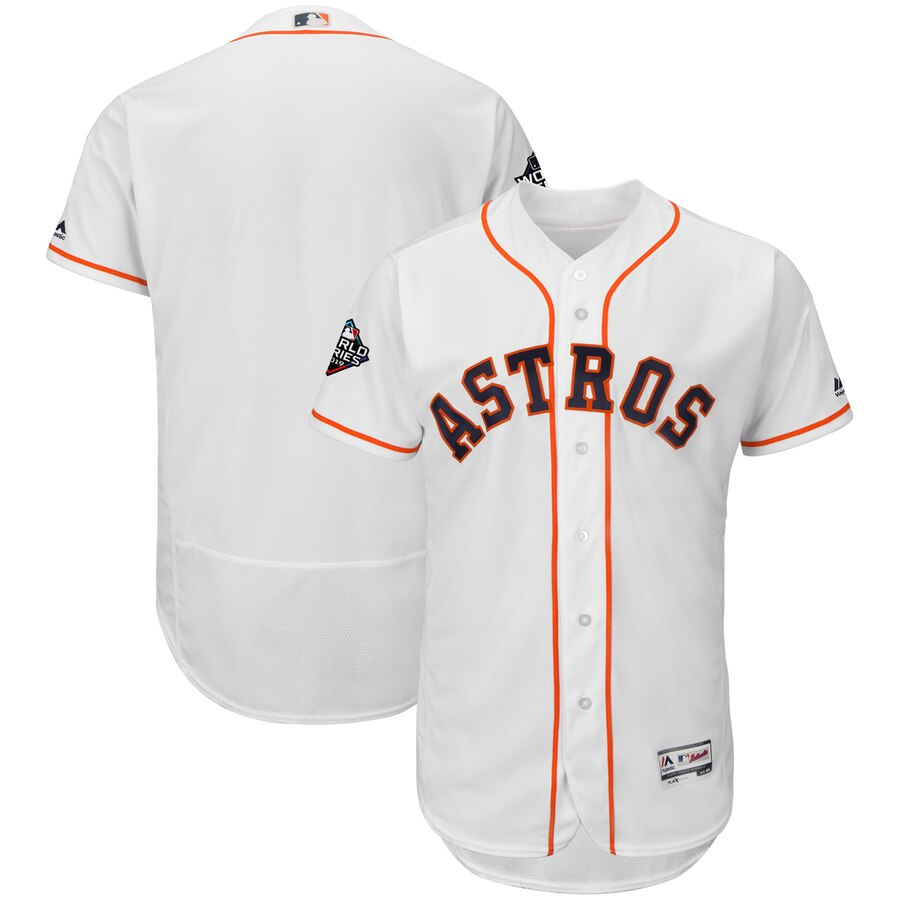 Astros Blank White 2019 World Series Bound FlexBase Jersey