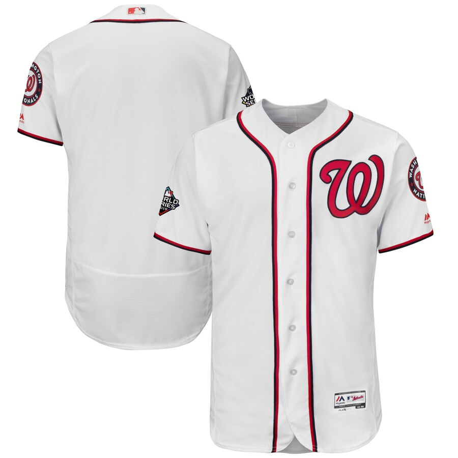 Nationals Blank White 2019 World Series Bound FlexBase Jersey