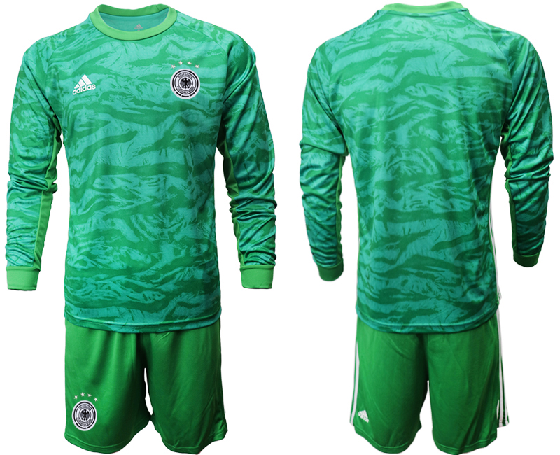 2019-20 Germany Green Long Sleeve Goalkeeper Soccer Jersey
