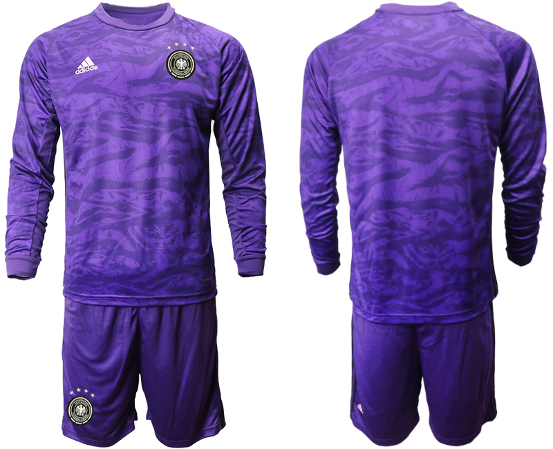 2019-20 Germany Purple Green Long Sleeve Goalkeeper Soccer Jersey
