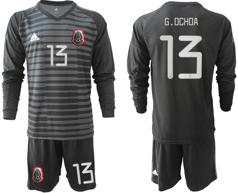 2019-20 Mexico 13 G.OCHOA Black Long Sleeve Goalkeeper Soccer Jersey