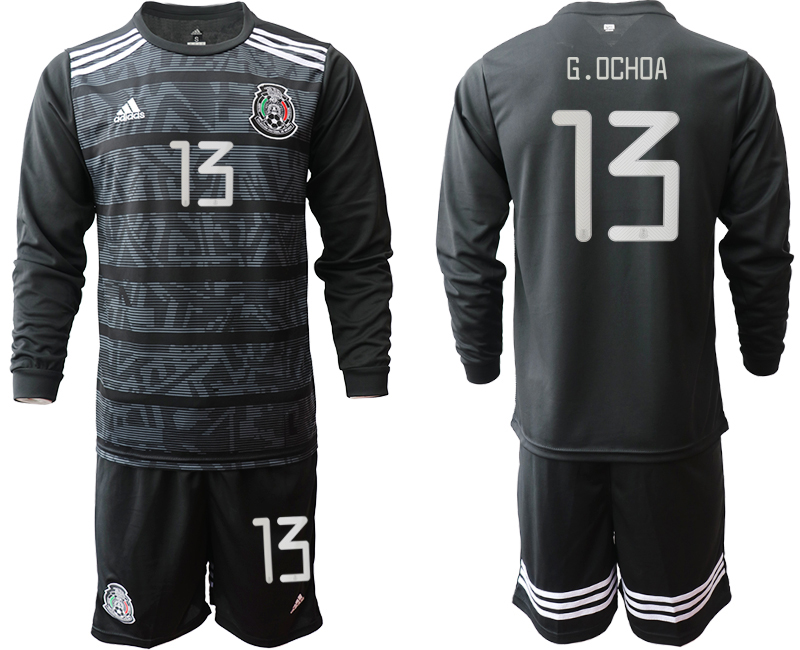 2019-20 Mexico 13 G.OCHOA Home Long Sleeve Soccer Jersey