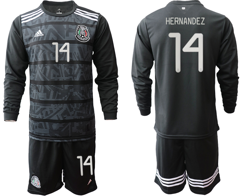 2019-20 Mexico 14 HERNANDEZ Home Long Sleeve Soccer Jersey