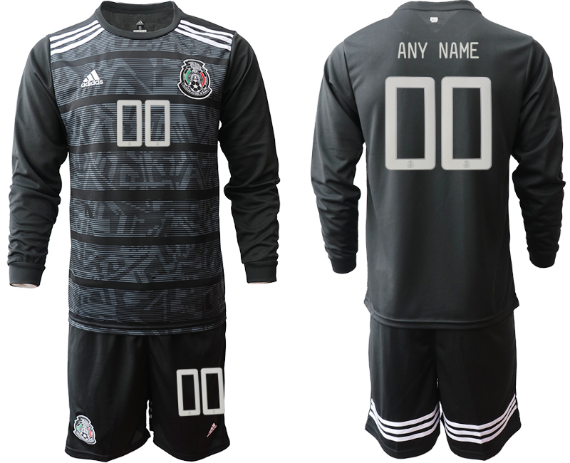 2019-20 Mexico Customized Home Long Sleeve Soccer Jersey