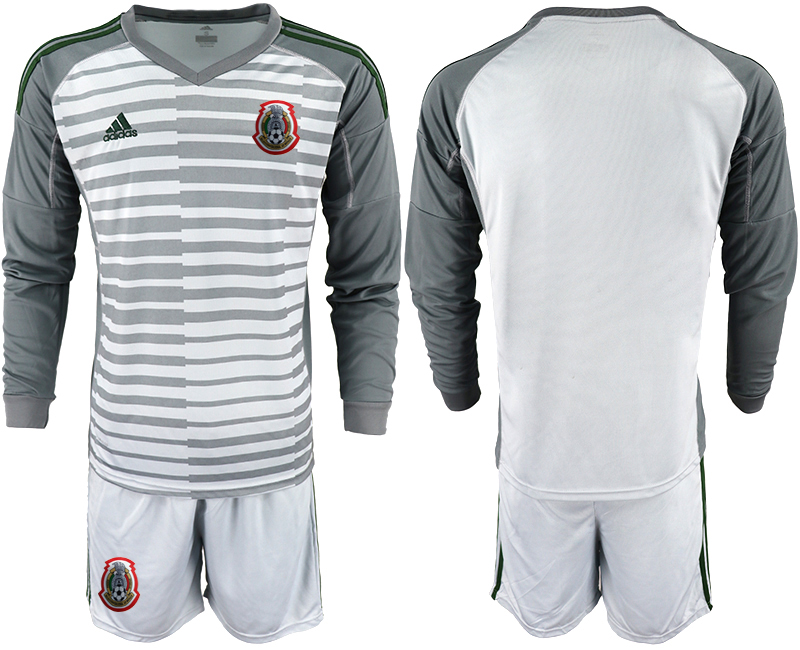 2019-20 Mexico Gray Long Sleeve Goalkeeper Soccer Jersey