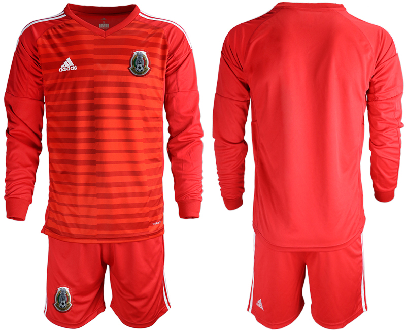 2019-20 Mexico Red Long Sleeve Goalkeeper Soccer Jersey