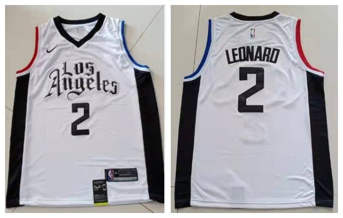 Clippers 2 Kawhi Leonard White City Edition Nike Swingman Jersey