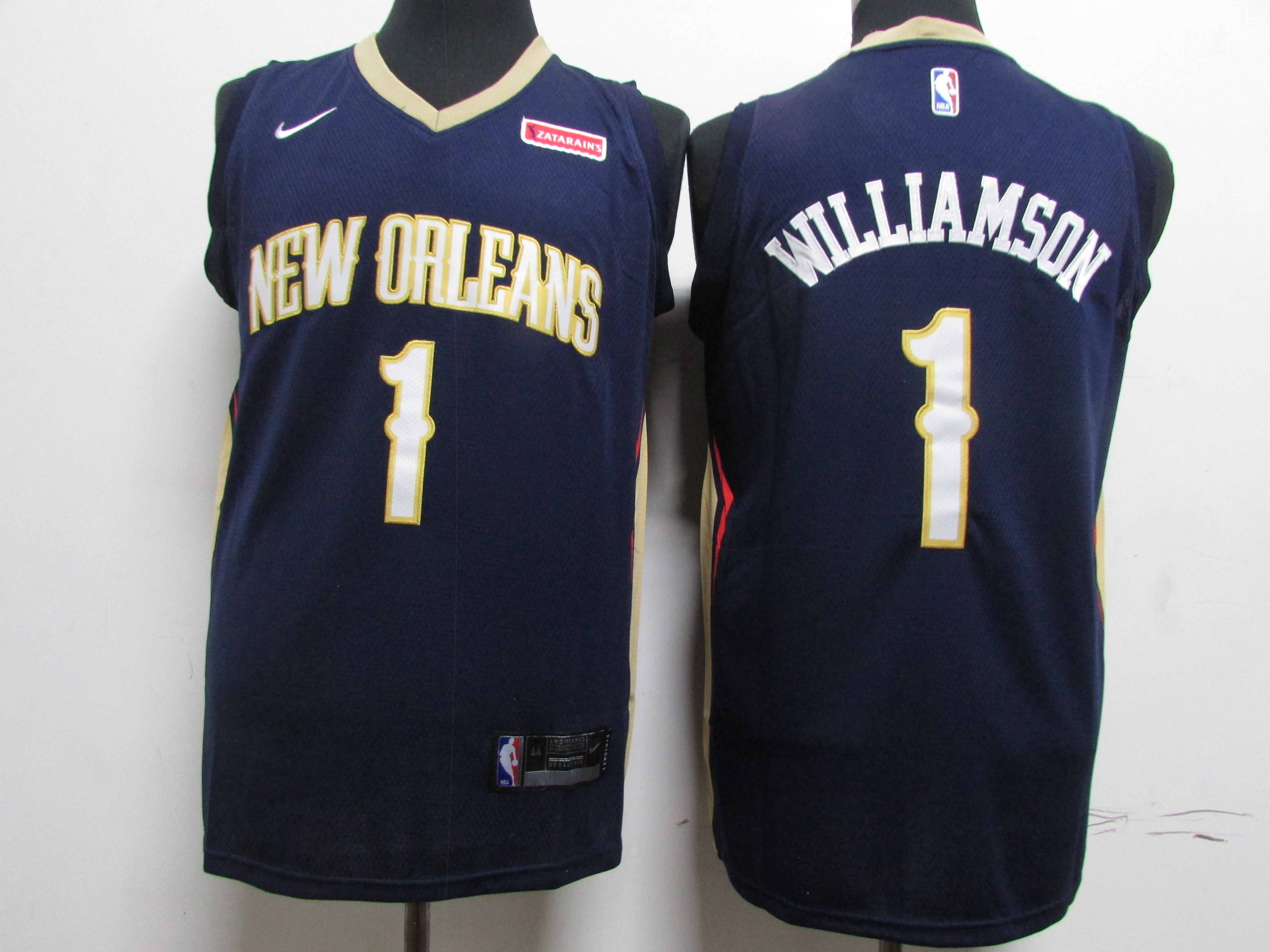 Pelicans 1 Zion Williamson Navy Earned Edition Nike Swingman Jersey