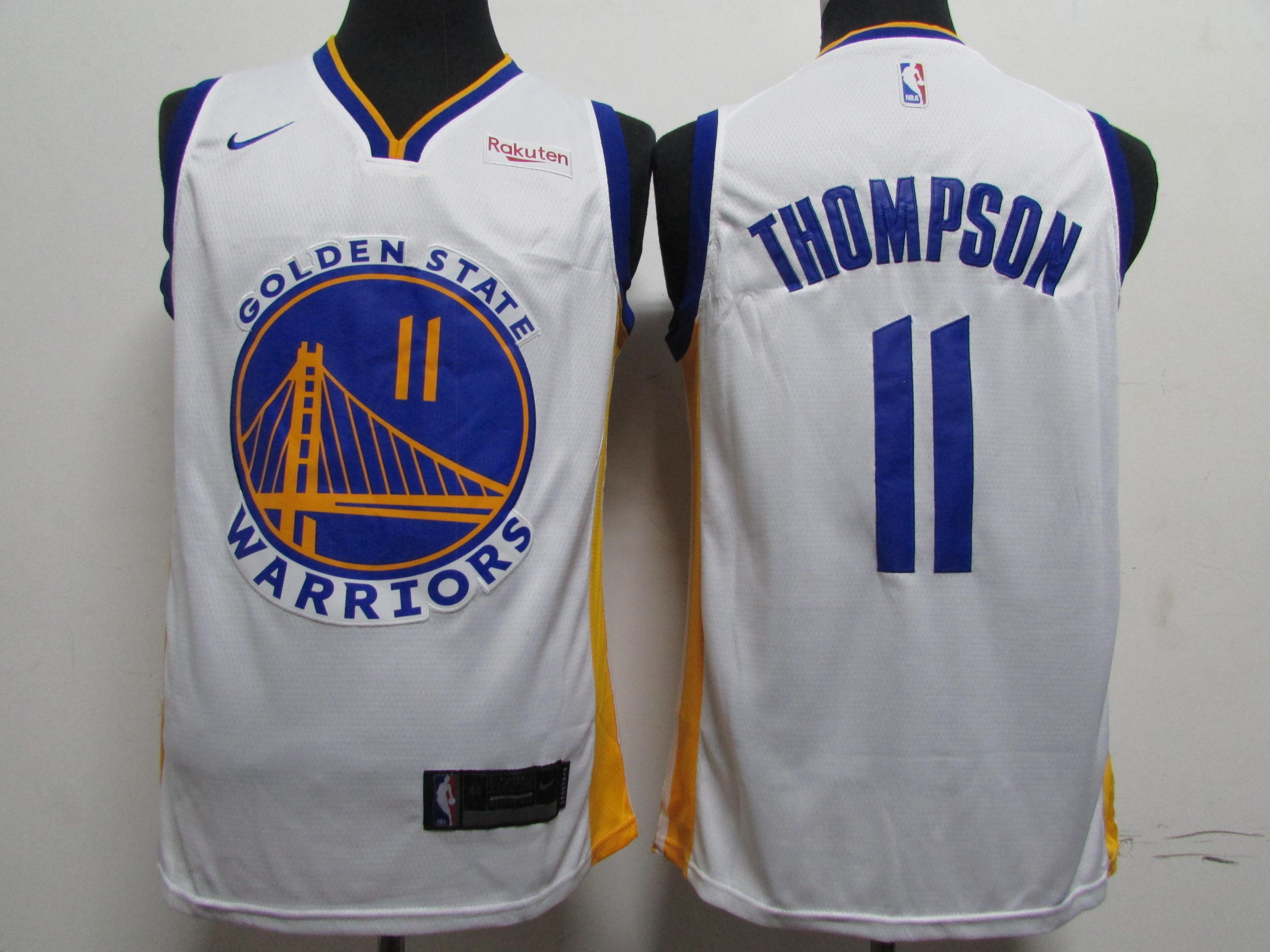 Warriors 11 Klay Thompson White 2020 New Nike Swingman Jersey