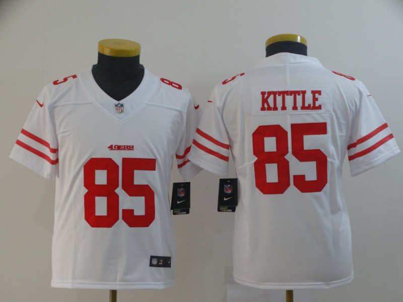 Nike 49ers 85 George Kittle White Youth Vapor Untouchable Limited Jersey