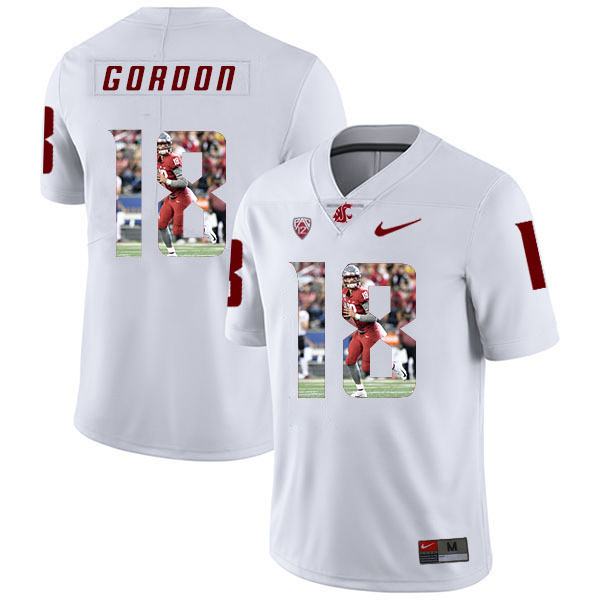 Washington State Cougars 18 Anthony Gordon White Fashion College Football Jersey