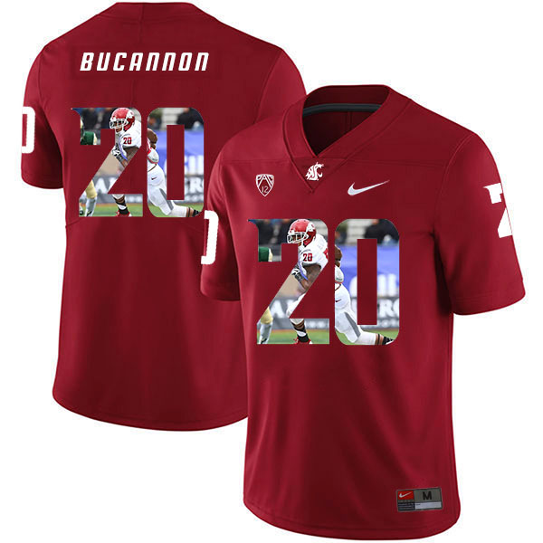Washington State Cougars 20 Deone Bucannon Red Fashion College Football Jersey