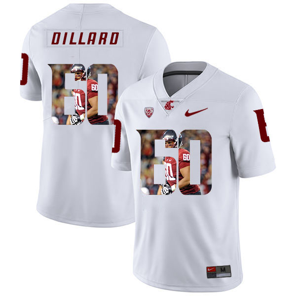 Washington State Cougars 60 Andre Dillard White Fashion College Football Jersey