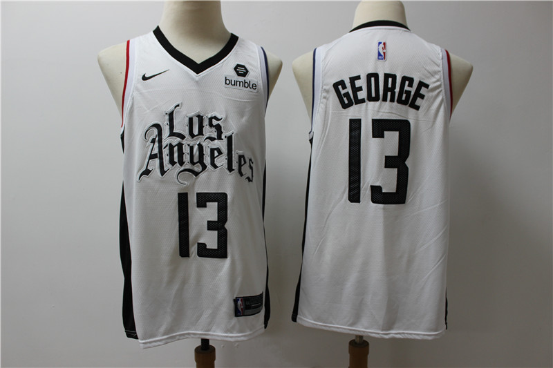 Clippers 13 Paul George White City Edition Nike Swingman Jersey