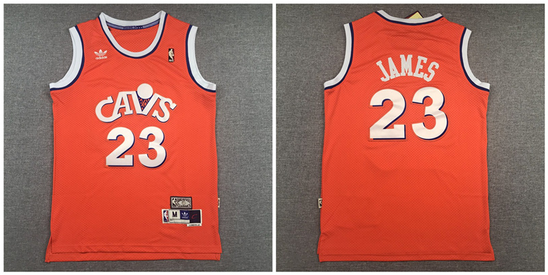 Cavaliers 23 Lebron James Orange Hardwood Classics Jersey