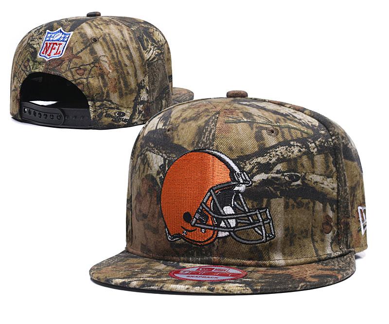 Browns Team Logo Camo Adjustable Hat LT