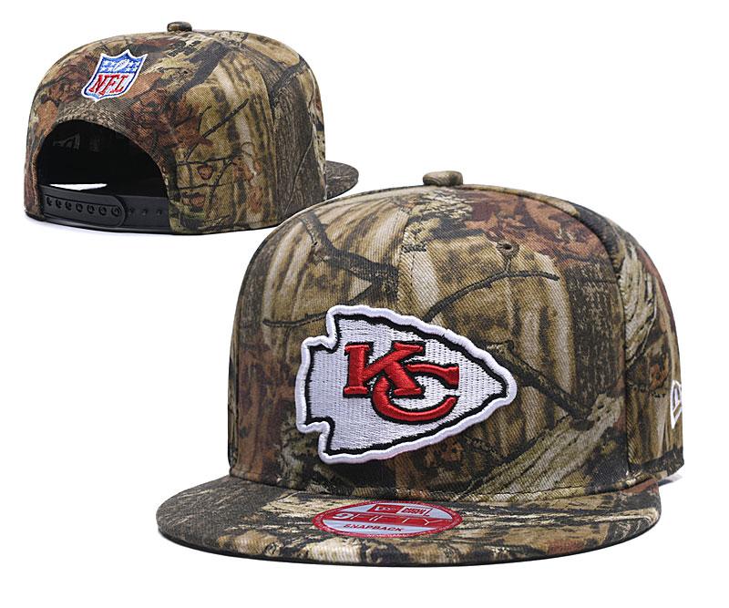 Chiefs Team Logo Camo Adjustable Hat LT