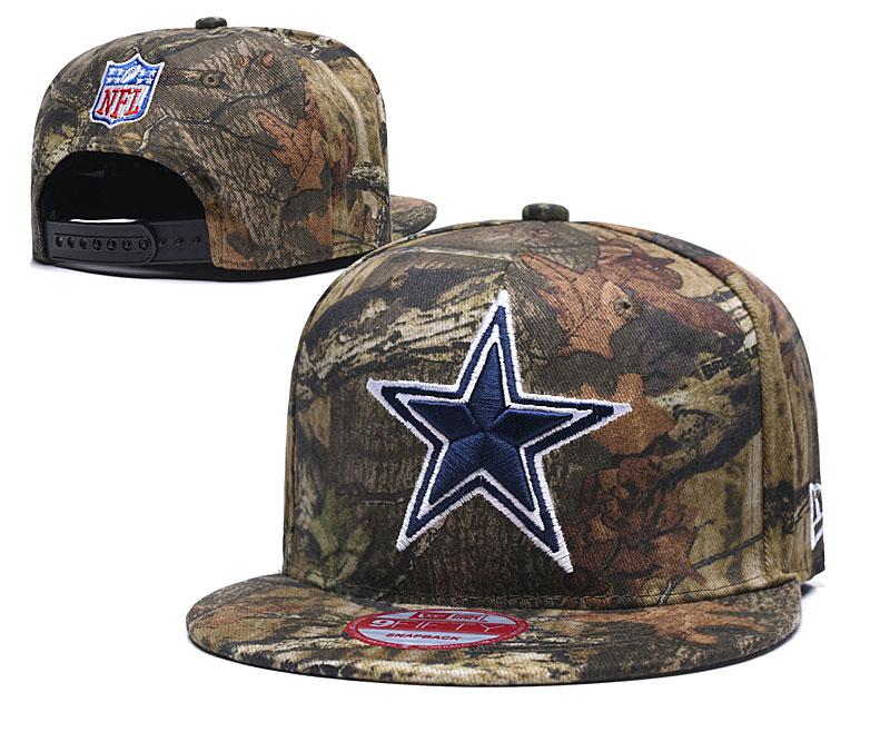 Cowboys Team Logo Camo Adjustable Hat LT