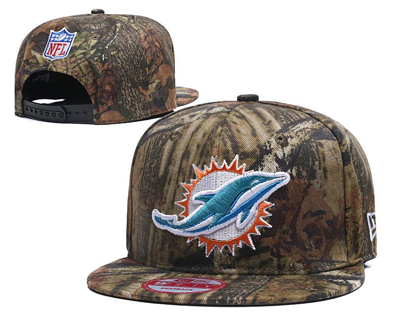 Dolphins Team Logo Camo Adjustable Hat LT