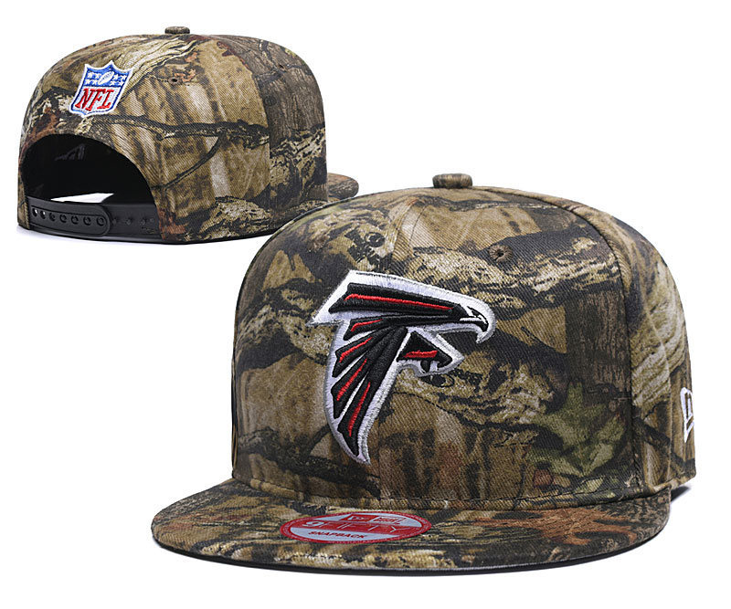Falcons Team Logo Camo Adjustable Hat LT