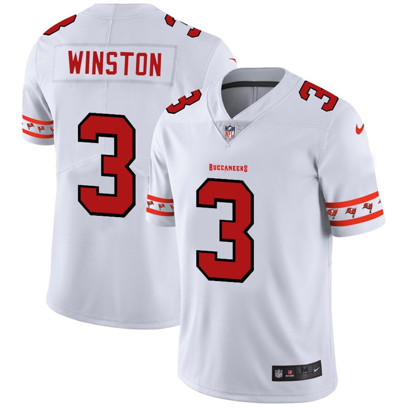 Nike Buccaneers 3 Jameis Winston White 2019 New Vapor Untouchable Limited Jersey
