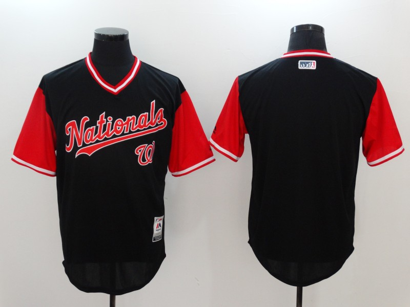 Nationals Blank Navy 2017 Players Weekend Jersey